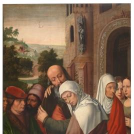 Abrazo de San Joaquín y Santa Ana ante la Puerta Dorada
