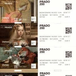 Billetes de entrada al Museo del Prado el 19 de noviembre de 2019