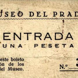 Billete de entrada al Museo del Prado entre 1910 y 1933