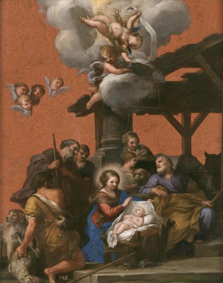 Restauración de La Natividad de Pietro da Cortona