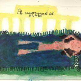 Billete de entrada familiar gratuita al Museo del Prado del año 2008