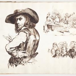 Un retrato individual, otro de grupo,y una escena teatral