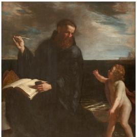 San Agustín meditando sobre la Trinidad
