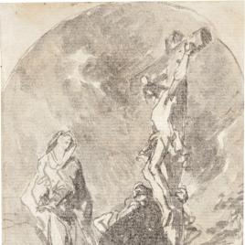Las santas mujeres al pie de la Cruz