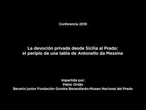 La devoción privada desde Sicilia al Prado