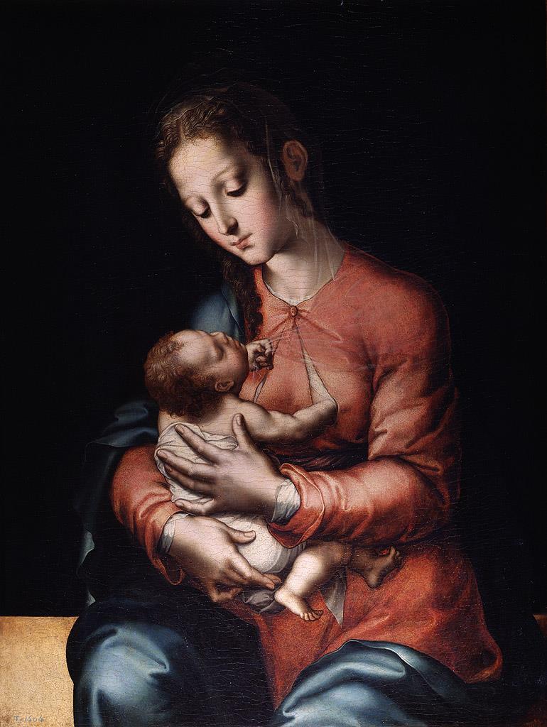 Virgen con el Niño [Luis de Morales]