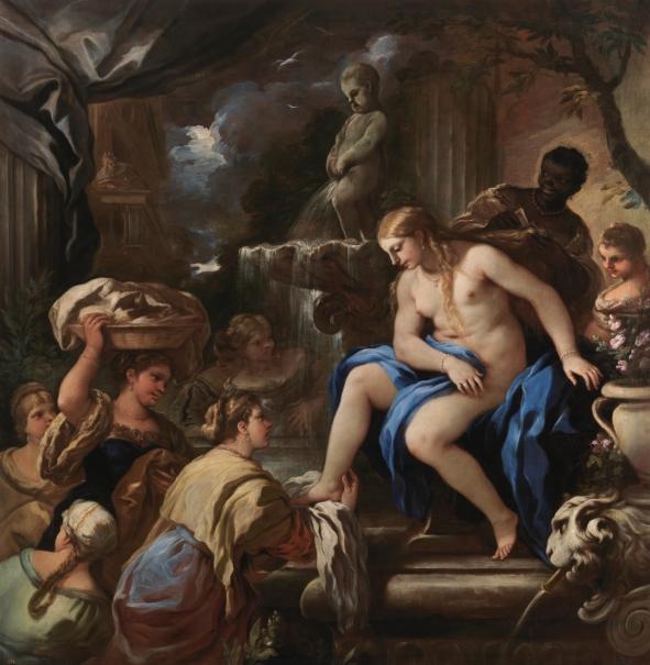 Bethsabé en el baño
