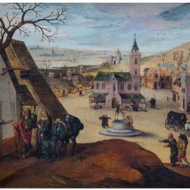 José y María buscan posada a su llegada a Belén