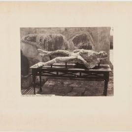 Impronta humana hallada en Pompeya el 5 de febrero de 1863