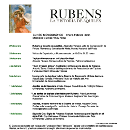 Rubens [Recurso electrónico] : la historia de Aquiles : curso monográfico , enero - febrero 2004 , miércoles y jueves 19.30 horas / Museo Nacional del Prado.