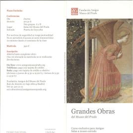 Grandes obras del Museo del Prado : curso exclusivo para Amigos : Salas a museo cerrado : otoño 2015 / Amigos del Museo del Prado.