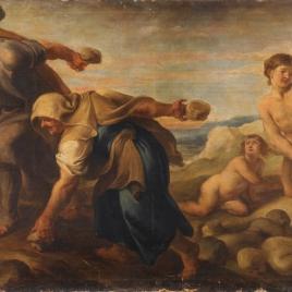 Deucalión y Pirra después del diluvio