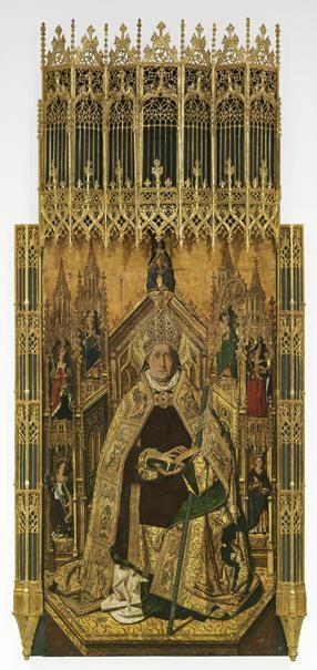 Santo Domingo de Silos entronizado como obispo (reproducción fotográfica)