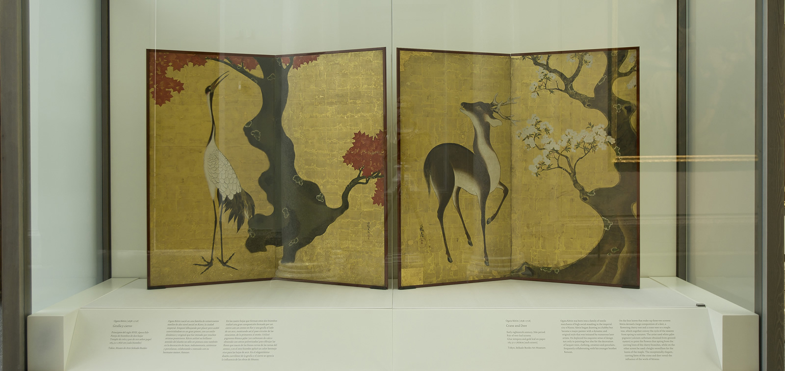 La obra invitada: dos biombos japoneses de la Escuela de Rimpa