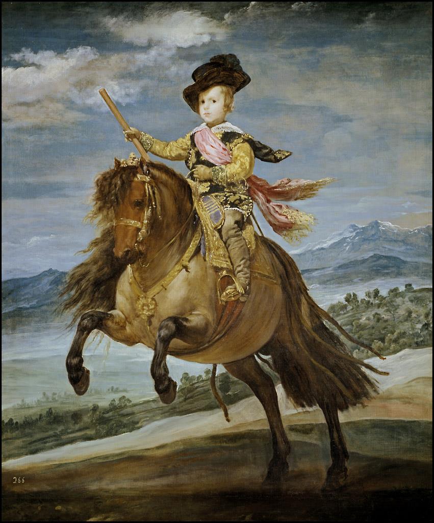 Príncipe Baltasar Carlos, a caballo, El [Velázquez]