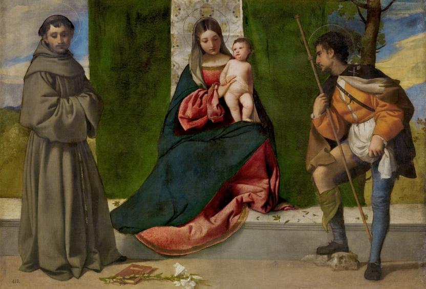 La Virgen con el Niño entre san Antonio de Padua y san Roque