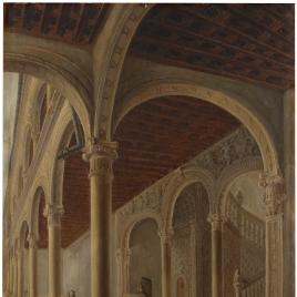 Una vista del claustro de la inclusa de Toledo