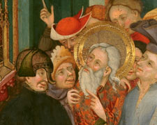 San Andrés negándose a adorar al ídolo