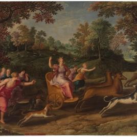 Alegoría del mes de Noviembre con el triunfo de Diana