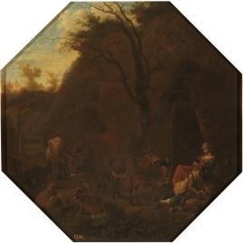 Cabaña con sus habitantes