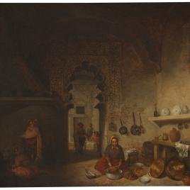 Interior d ela cocina de una posada del pueblo de Maqueda