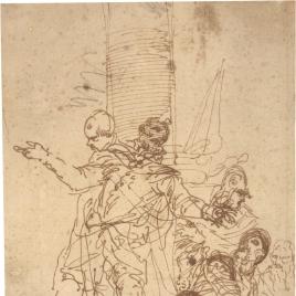 Un caballero y varios guerreros