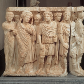 Sarcophagus with the story of Achilles and Polyxena (Fragment)