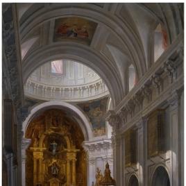 Interior de la Iglesia de las Calatravas, en Madrid