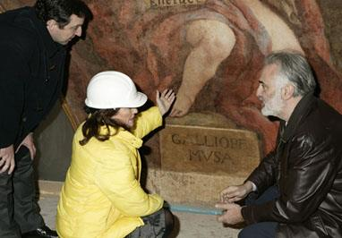 La ministra de Cultura, Carmen Calvo, visita el Casón del Buen Retiro para conocer el estado de las obras