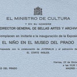 Dos invitaciones para la inauguración de la exposición