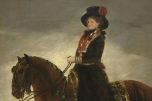 La reina María Luisa a caballo de Goya escaneada en 3D