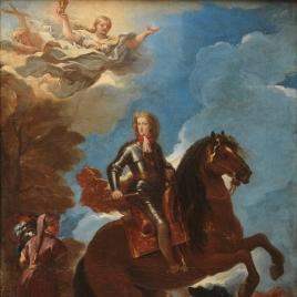 Carlos II, rey de España, a caballo