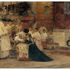 Los padres del celebrante después de la misa nueva