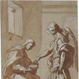 Aparición de un ángel a una monja en su celda