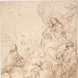 Virgen con el Niño y Santos