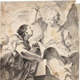 La Magdalena ante el sepulcro de Cristo