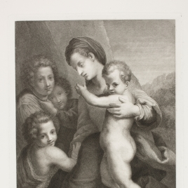 La Virgen con el Niño, San Juan y ángeles