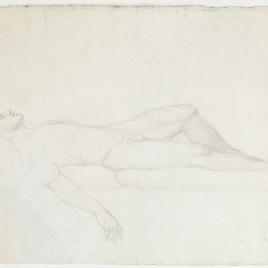 Estudio de desnudo masculino para el cuerpo de Viriato