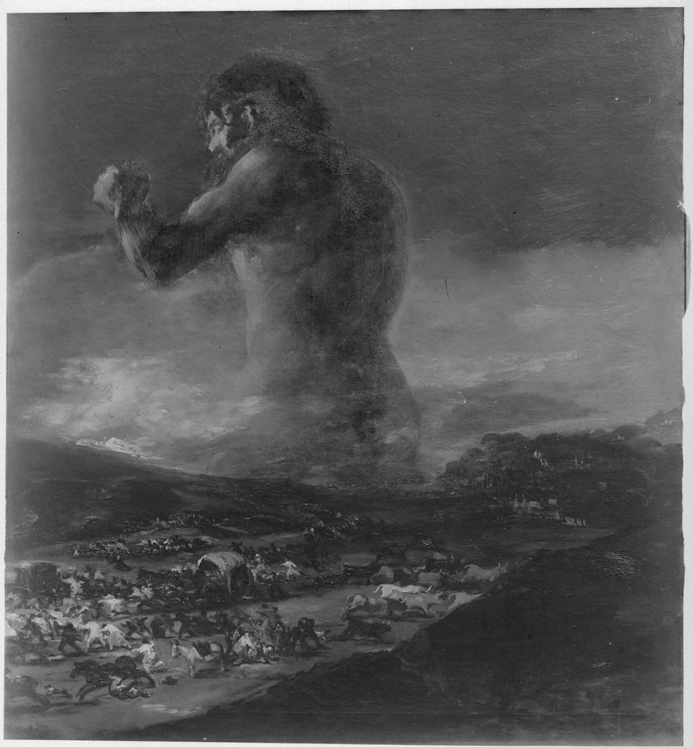<p><em>El Coloso.</em>Fotografía realizada por el servicio fotográfico del Museo Nacional del Prado. Hacia 1940. Archivo del Museo Nacional del Prado</p>