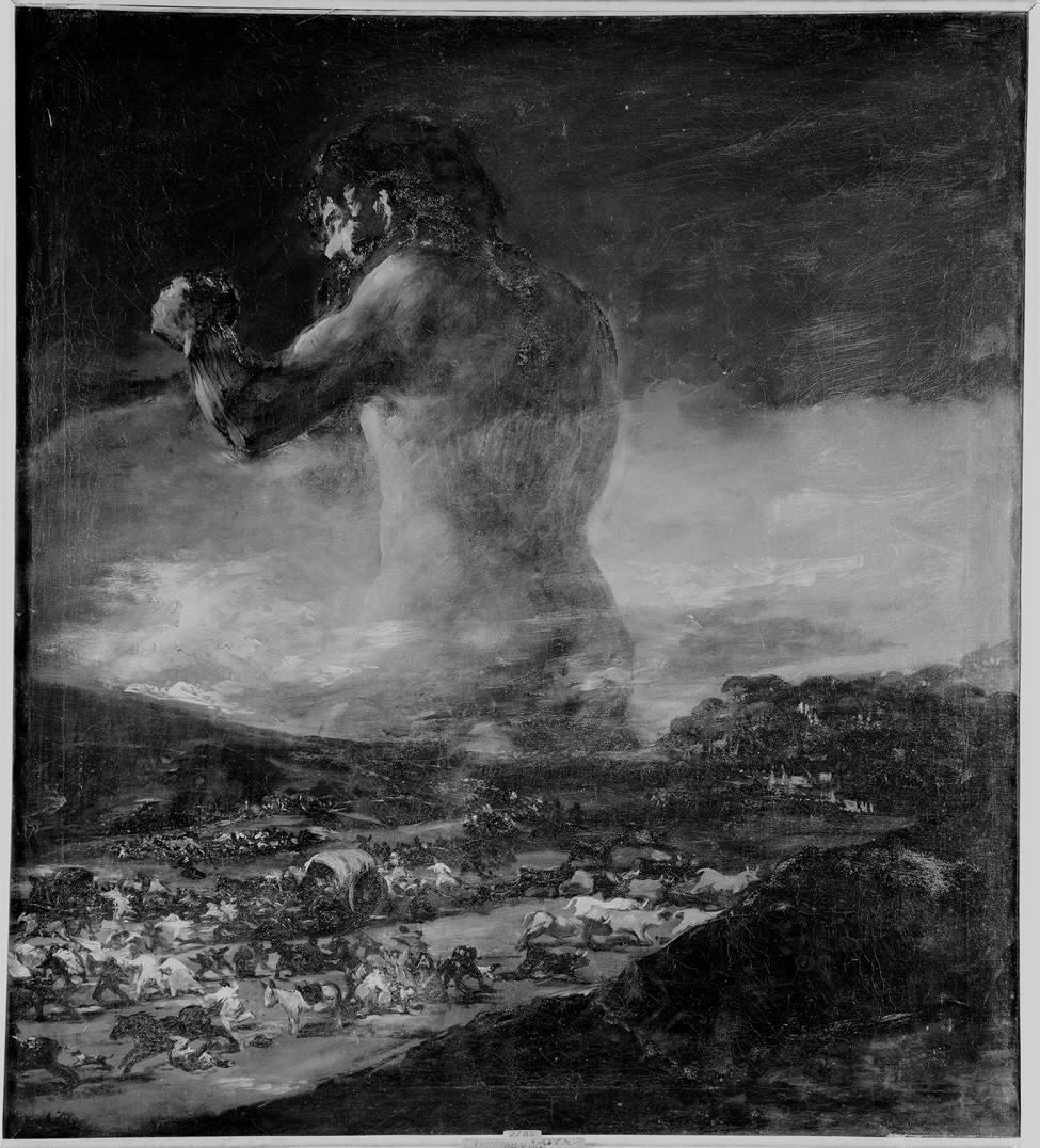 <p><em>El Coloso</em>. Fotografía realizada por el servicio fotográfico del Museo Nacional del Prado. Década de 1960. Archivo del Museo Nacional del Prado</p>