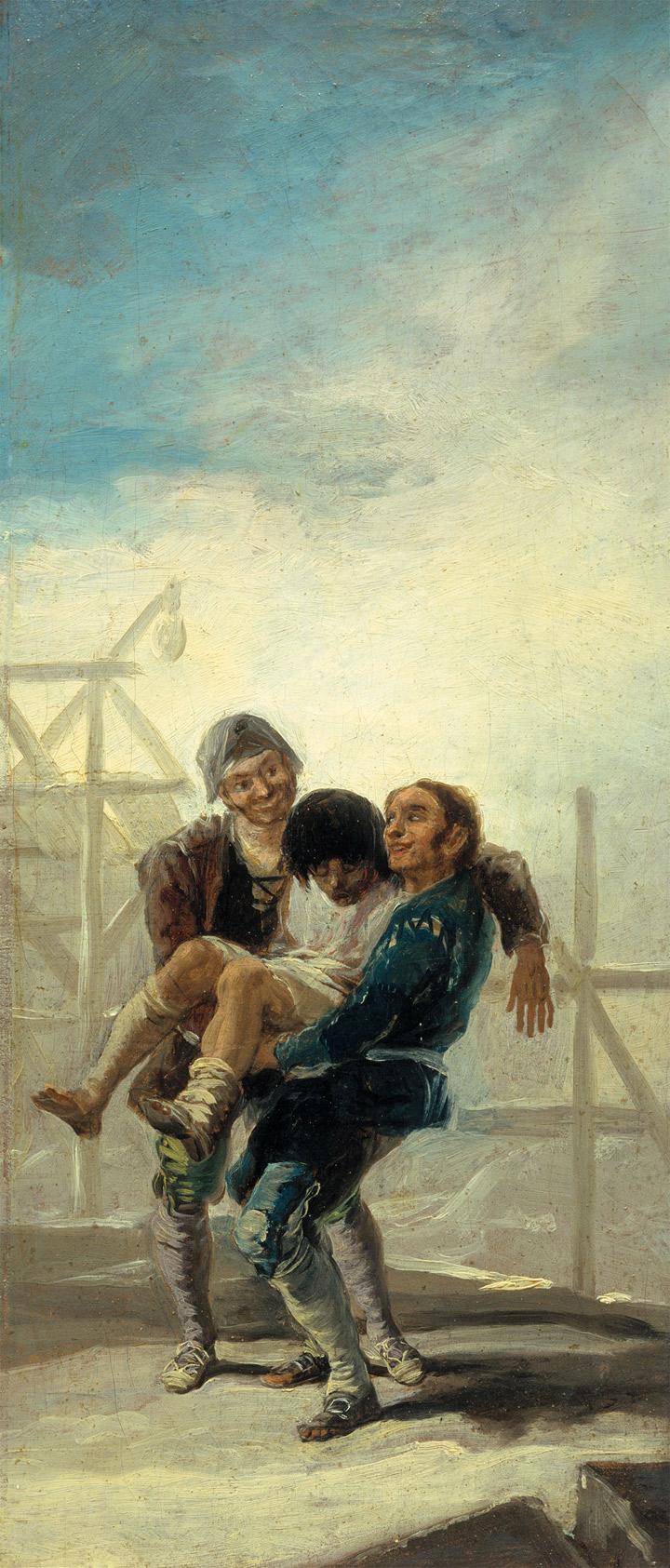 <p>Francisco de Goya,<em>El albañil borracho,</em>boceto, 1786-87, Legado Fernández Durán, Madrid, Museo del Prado</p>