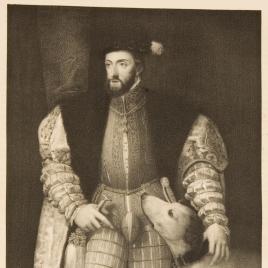 El emperador Carlos V con un perro