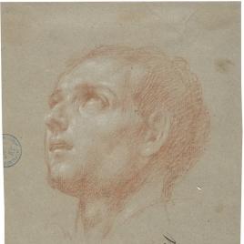 Estudio de cabeza para la figura de San Luis Gonzaga