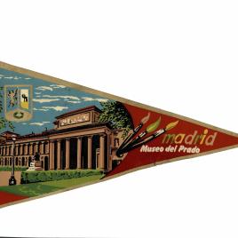 Banderín que reproduce la fachada del Museo del Prado