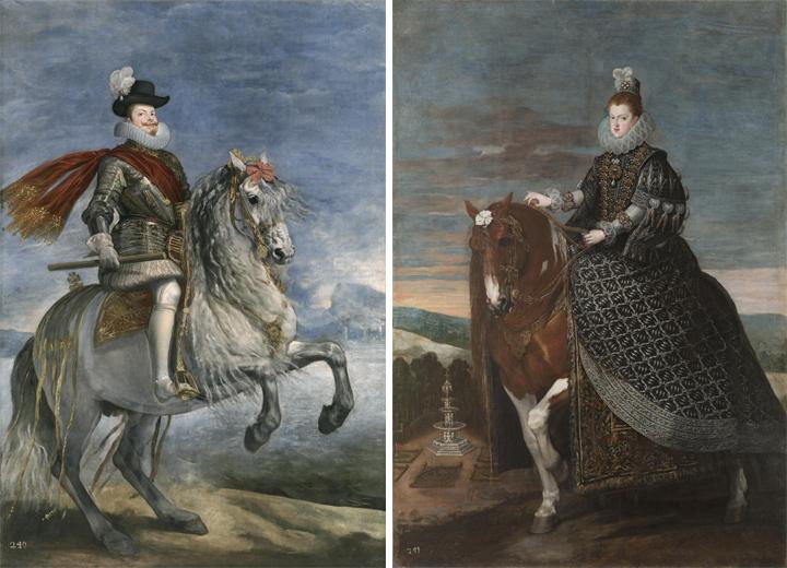 Restauración de los retratos ecuestres de Felipe III y Margarita de Austria, de Velázquez