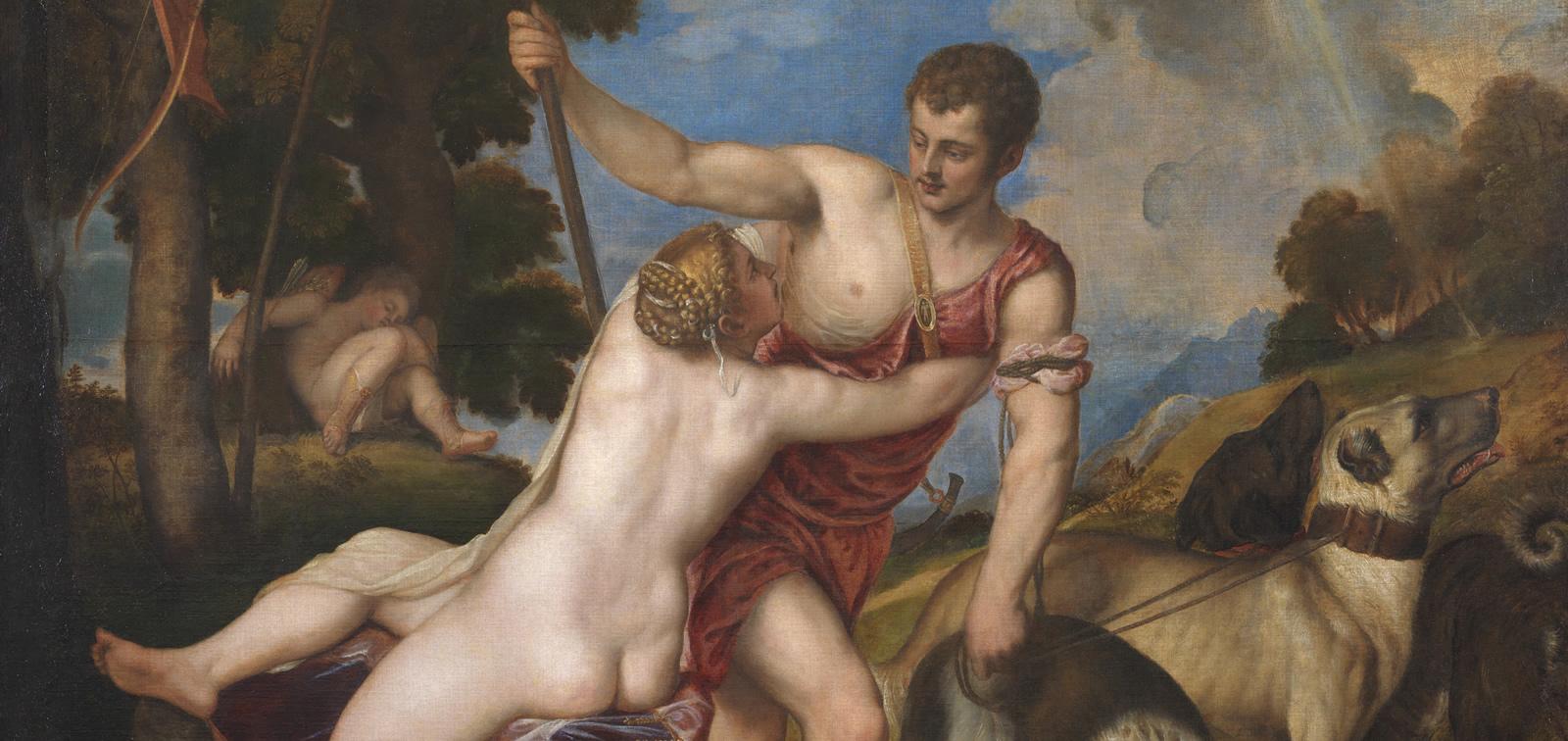 Tiziano: Dánae, Venus y Adonis. Las primeras poesías