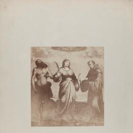 San Jerónimo, santa Margarita y san Francisco