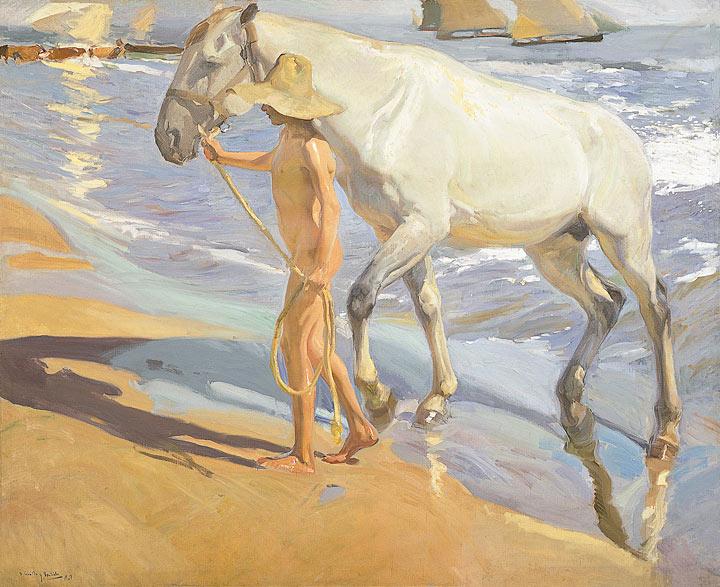 Around 1909: the Malvarrosa beach