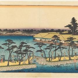 Templo de Benten junto al lago de Shinobazu, en Ueno (Shinobazu no ike Benten hokora)
