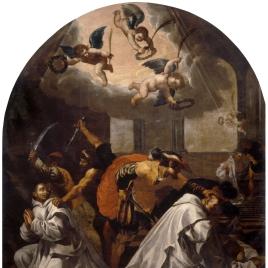 Martirio de cuatro monjes en la cartuja de Roermond